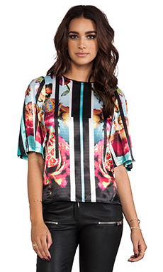 Clover Canyon Rose Stripe Top in Multi