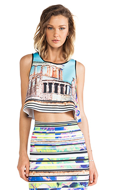 ACROPOLIS GARDEN NEOPRENE CROP TOP