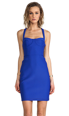 Cynthia Rowley Bonded Fitted Dress in Bright Blue