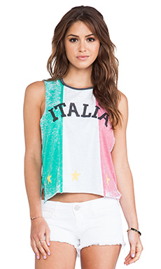 Chaser Italia Tank in Green/White/Red