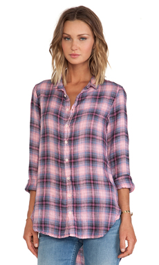 CP SHADES Carino Plaid Shirt in Guava