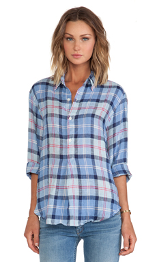 CP SHADES Tennessee Plaid Shirt in Blue