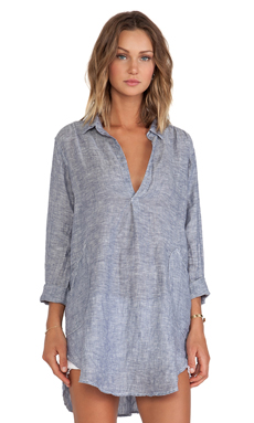 CP SHADES Teton Chambray Tunic in Blue