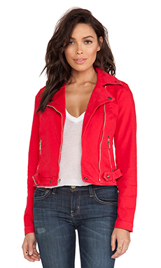 Current/Elliott Biker Jacket in Wagon Red