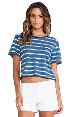 Current/Elliott The Cropped Crew Tee in Castaway