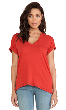 Current/Elliott The V Neck in Red