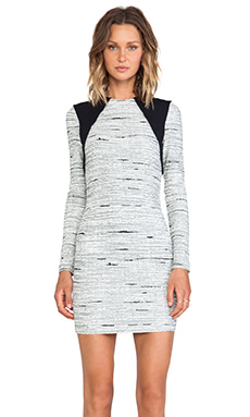 Cut25 by Yigal Azrouel Static Jacquard Knit Dress in Jet Multi