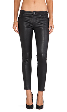 Cut25 by Yigal Azrouel Stretch Leather Pant in Jet