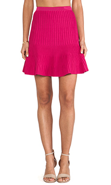Cut25 by Yigal Azrouel Techno Knit Skirt in Cerise