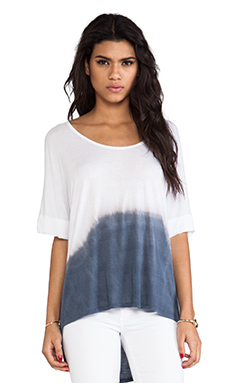 DAYDREAMER The Linda Top in Indigo Ombre Dye