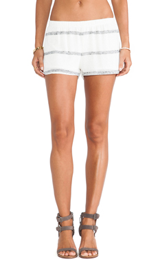 DeLacy Dylan Short in White & Grey