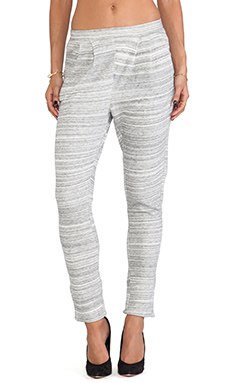 DemyLee Stripe Cuff Pant in Heather Grey