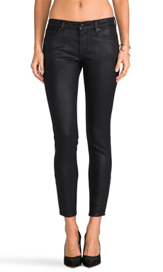 D-ID Derby Zip Ankle Skinny in Black Wax
