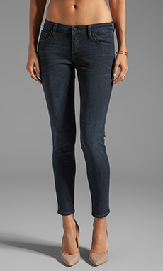 D-ID Florence Ankle Skinny in Blue Black