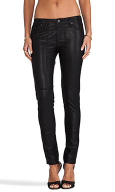 D-ID Faux Leather Sturgis Skinny in Rinse
