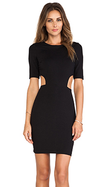 David Lerner Cut Out Dress in Black