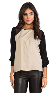 David Lerner The Murray Blouse in Nude/Black