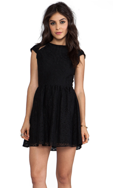DV by Dolce Vita Alishia Pattern Lace Dress in Black