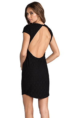 DV by Dolce Vita Betsey Lace Tile Dress in Noir