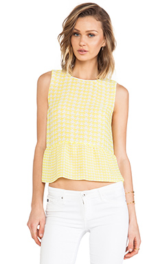 Dolce Vita Talisa Top in Yellow & White