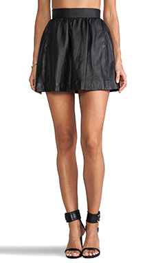 DOMA Lamb Leather Skirt in Black