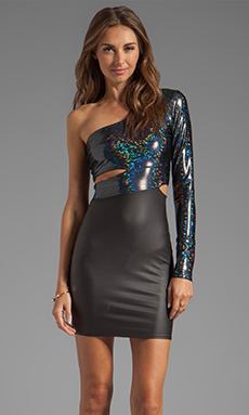 Donna Mizani Hologram Classic Cut Out Dress in Hologram