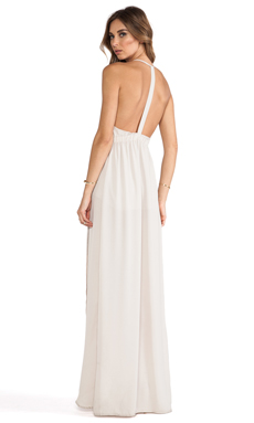 Donna Mizani Tulip Gown in French Beige