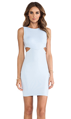 Donna Mizani Cut Out Mini Dress in Powder Blue
