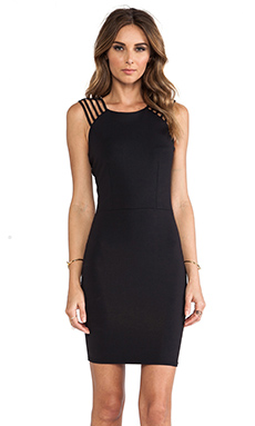 Donna Mizani Strap Dress in Caviar