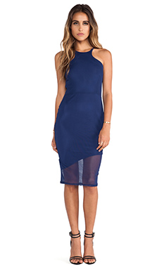 Donna Mizani Mid Length Racer Front Dress in Navy