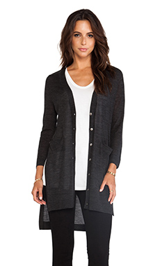 DUFFY Cardigan in Charcoal