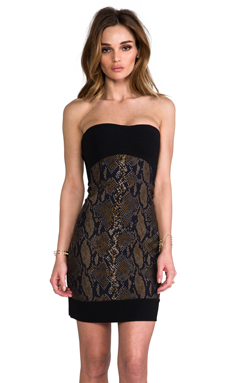 Diane von Furstenberg Garland Two Dress in Black/Latte/Multi