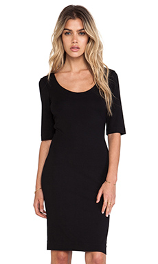 Diane von Furstenberg Raquel Scoop Neck Dress in Black