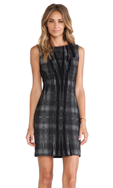 Diane von Furstenberg Mackenzie Shift Dress in Black & White