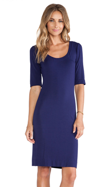 Diane von Furstenberg Raquel Scoop Neck Dress in Purple Haze