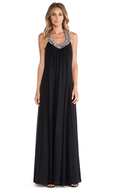 Diane von Furstenberg Willemma Maxi Dress en Noir