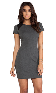 Diane von Furstenberg Havana Dress in Grey Slate/Black
