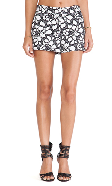 Diane von Furstenberg Napoli Shorts in White & Black