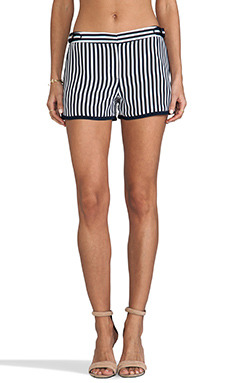 Diane von Furstenberg RUNWAY Tiffany Print Pant in January Stripe/Admiral Navy