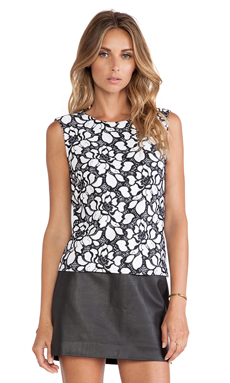 Diane von Furstenberg Betty Tank in White & Black