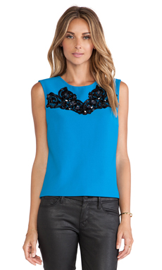 Diane von Furstenberg Betty Tank in Topaz