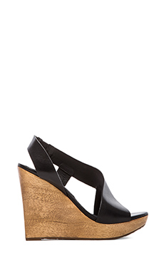 Diane von Furstenberg Sunny Wedge in Black