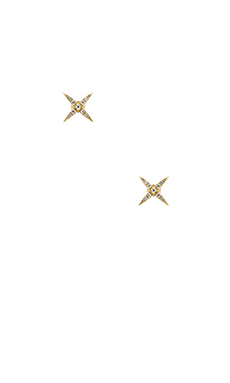 Elizabeth and James Kara Stud Earrings in Yellow Gold