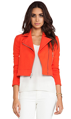 Elizabeth and James Plum Biker Jacket in Tangelo