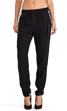 Elizabeth and James Christina Pant in Black/Ivory
