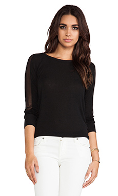 Elizabeth and James Sloane Top in Black/Black
