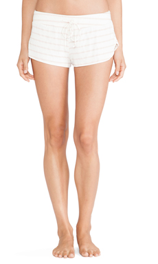 eberjey Lounge Stripe Shorts in Shell