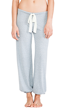 eberjey Heather Cropped Pant in Blue Shadow