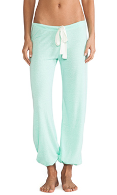 eberjey Heather Cropped Pant in Mint Glow