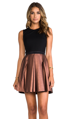 ERIN erin fetherston Abby Dress in Black/Bronze